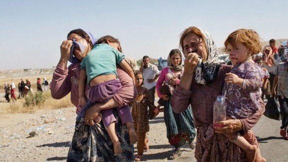 تصویر روز- آوارگی هزاران بی گناه در اثر حمله نظامی ترکیه به شمال سوریه
